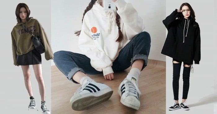 Quần jean và áo hoodie