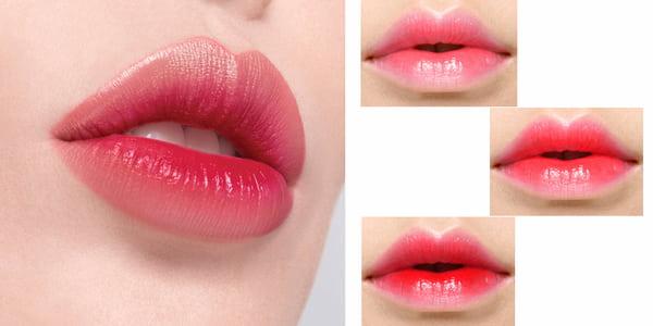 Phun môi collagen màu đỏ hồng