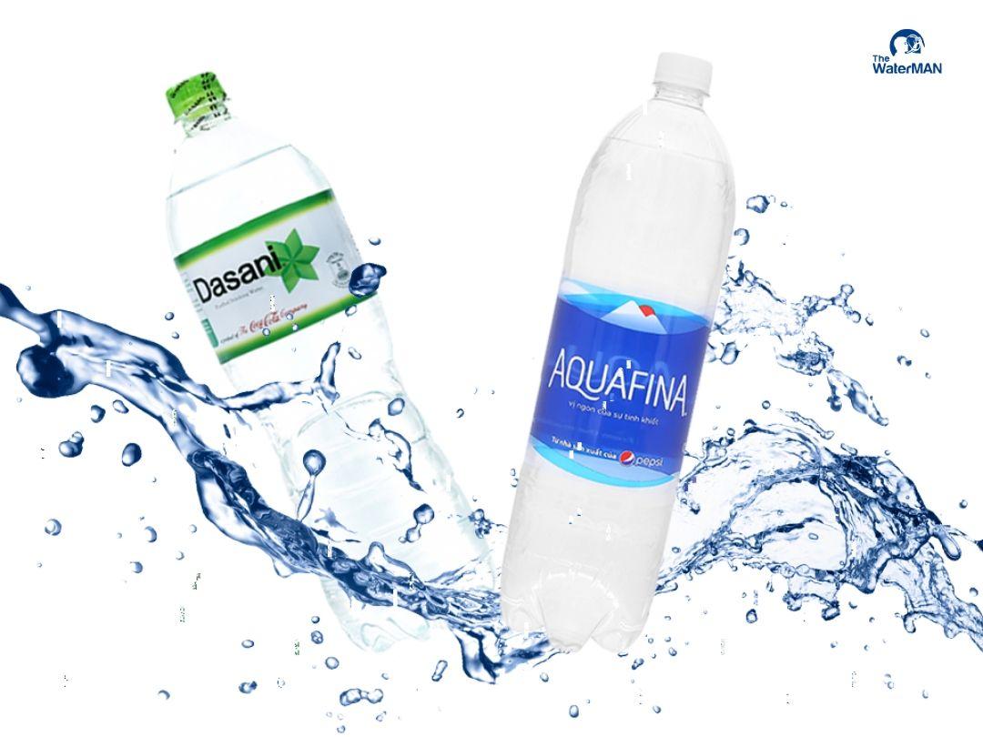 Nước tinh khiết Aquafina và Dasani có gì khác biệt?