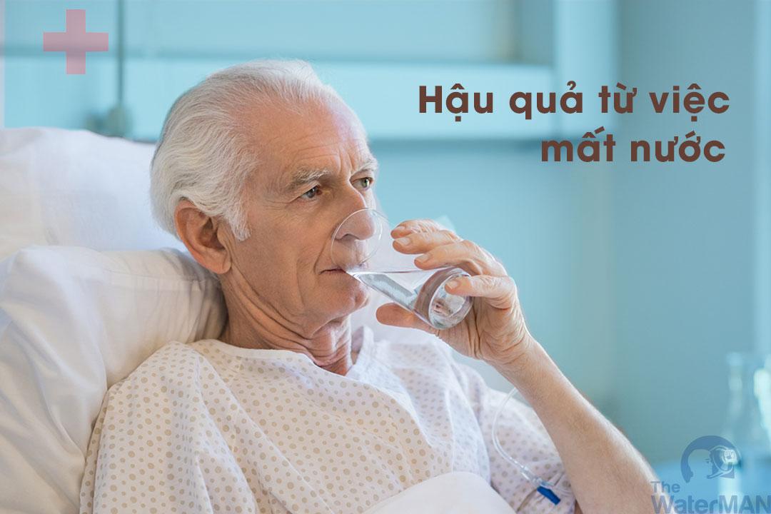 Tính mạng người cao tuổi có thể bị đe dọa do mất nước