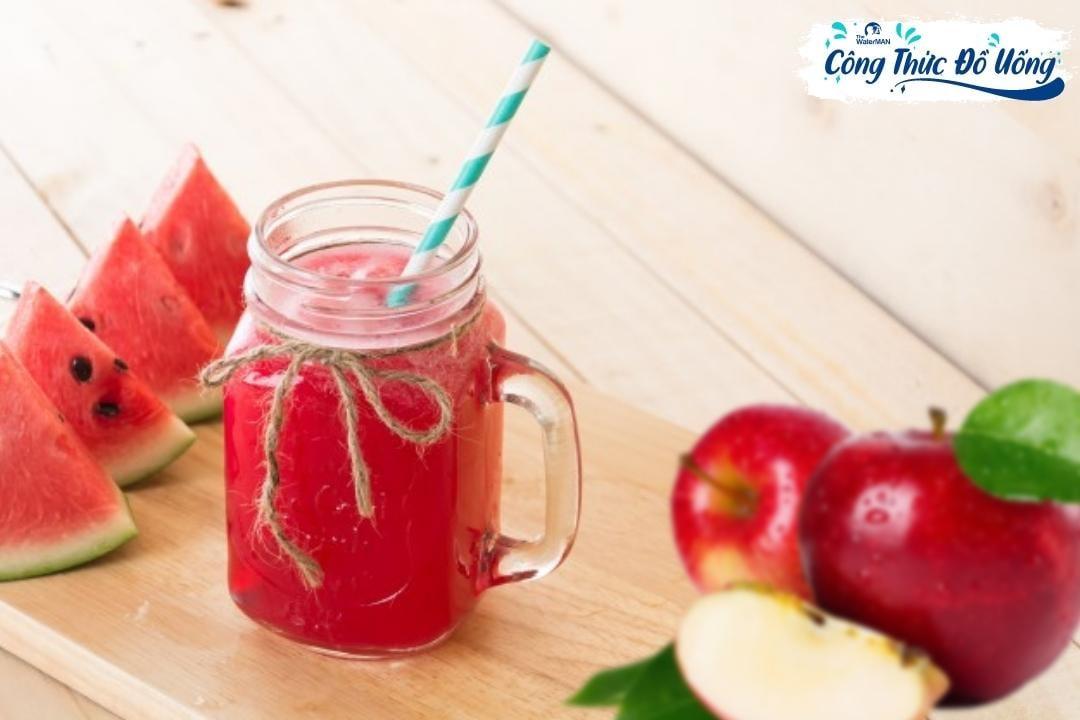 Công thức làm nước ép dưa hấu mix táo giải nhiệt cơ thể