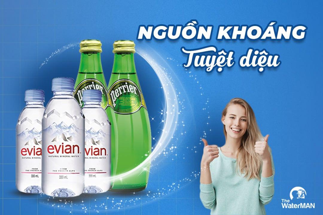 Vì sao nước khoáng Evian, Perrier giá cao nhưng vẫn được ưa chuộng?