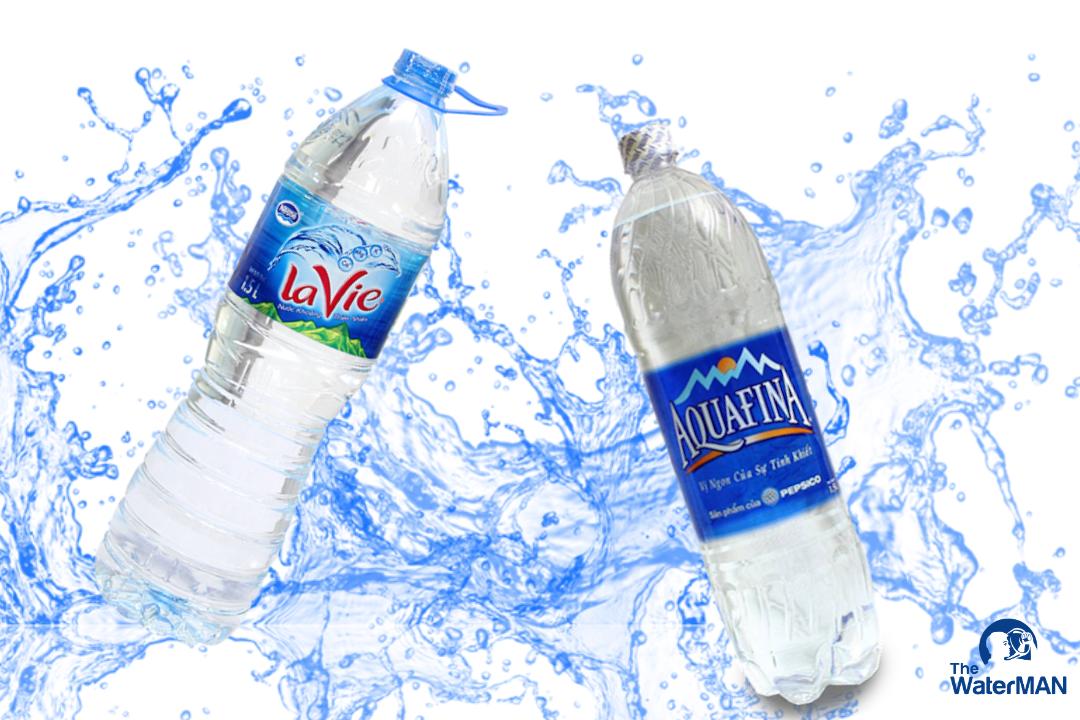 Nên chọn mua nước tinh khiết Aquafina hay nước khoáng Lavie?