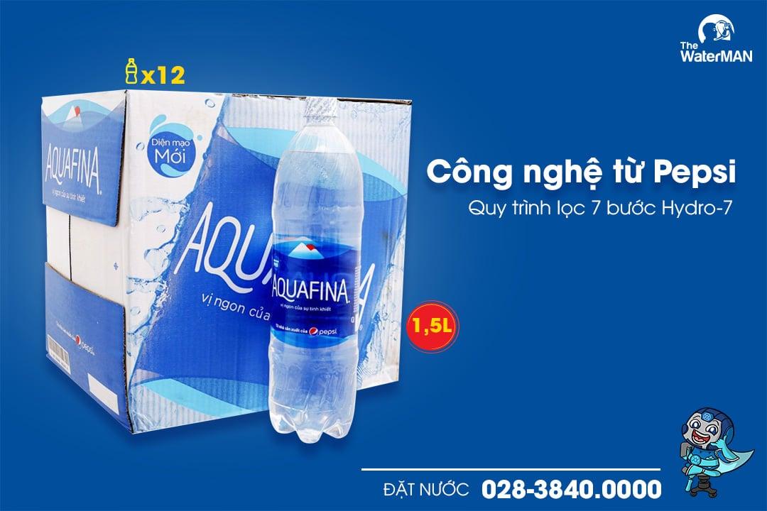 Thùng nước tinh khiết Aquafina chai 1.5L