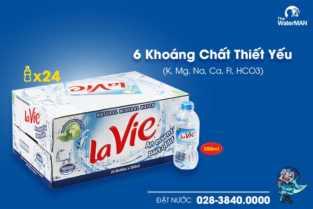 Thùng nước khoáng Lavie chai 350ml