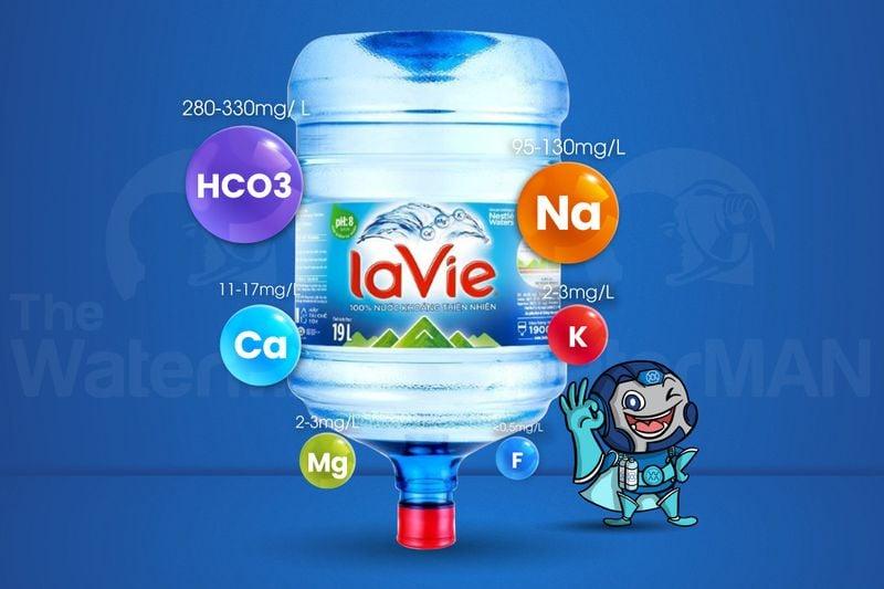 Thành phần khoáng trong nước Lavie 19L