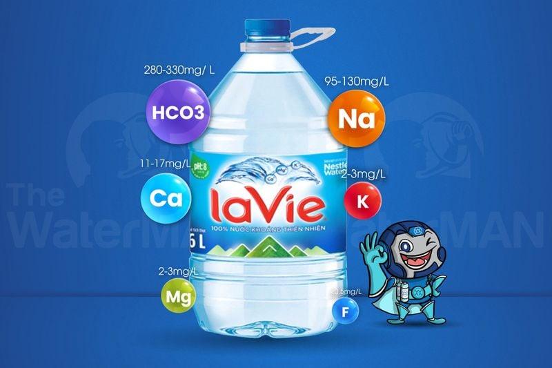 Thành phần khoáng trong bình Lavie 6L
