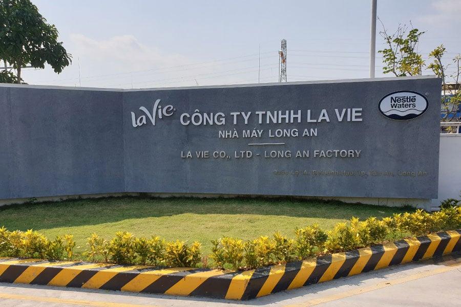 Nhà máy Lavie đặt tại Long An