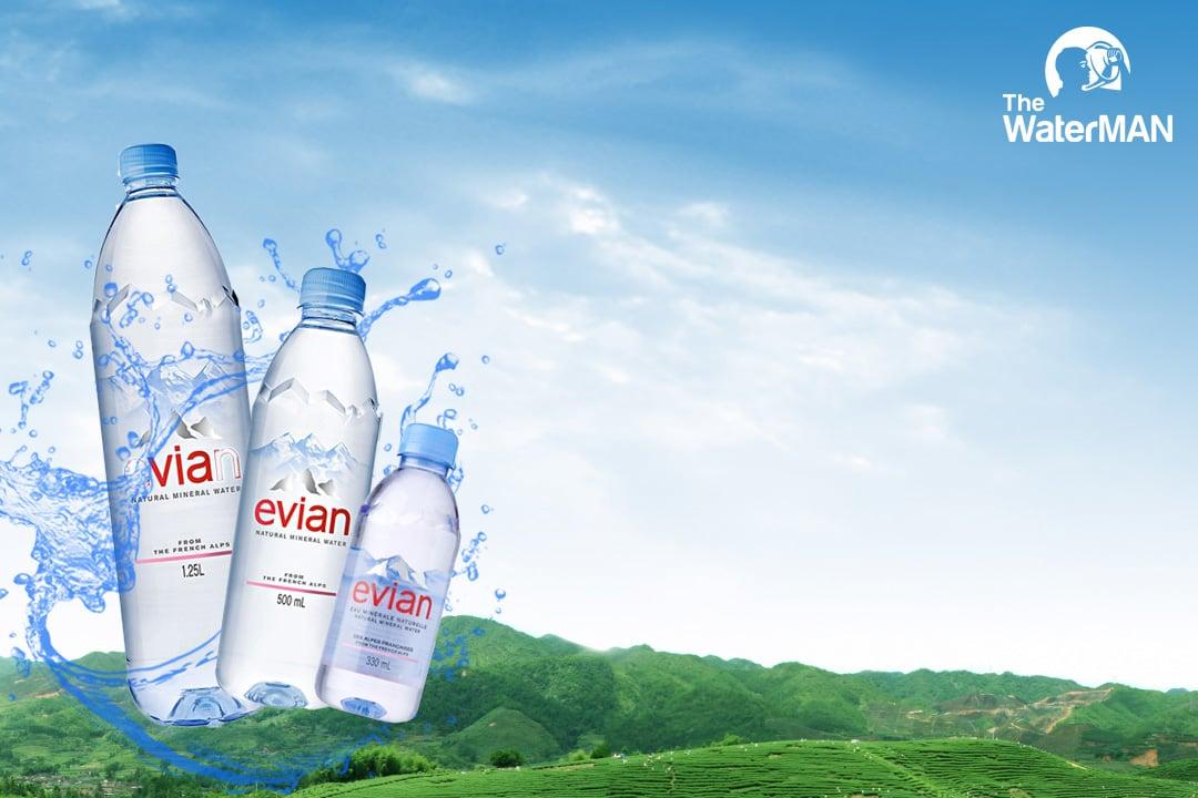 Các sản phẩm của nước suối Evian