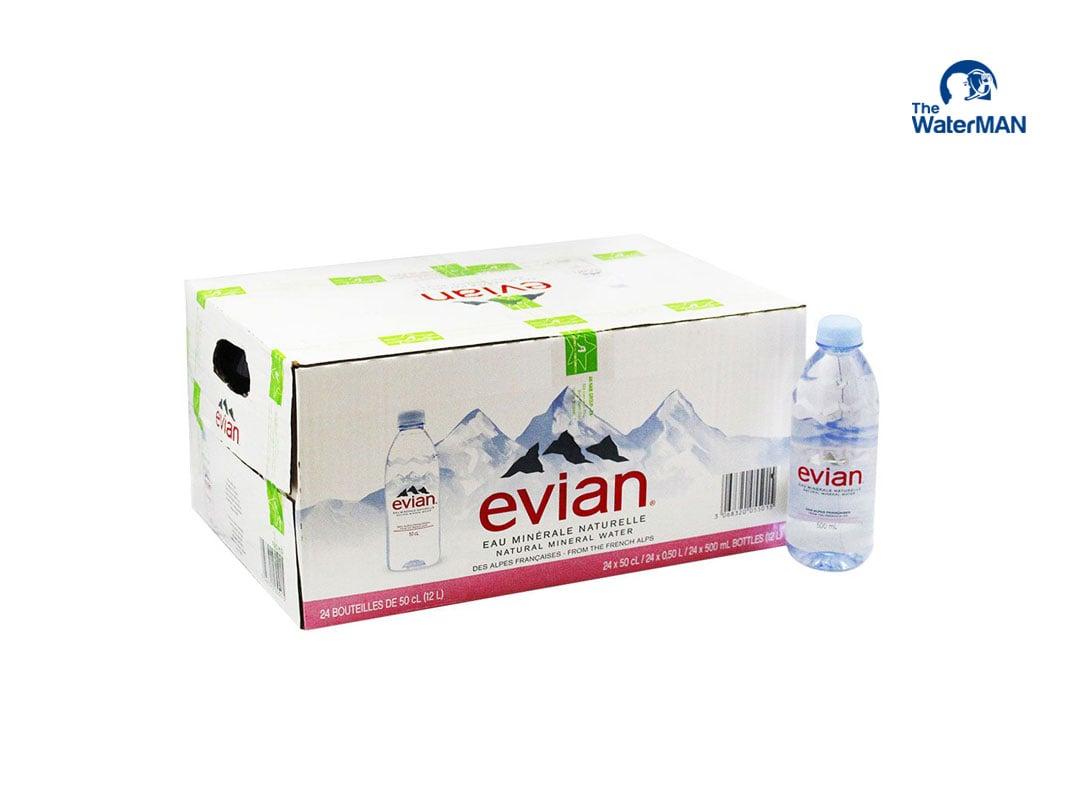 Nước khoáng Evian chai 500ml