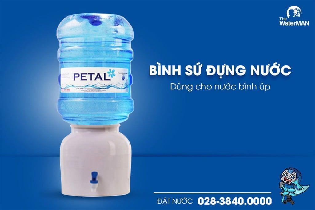Bình sứ đựng nước dùng cho nước bình úp