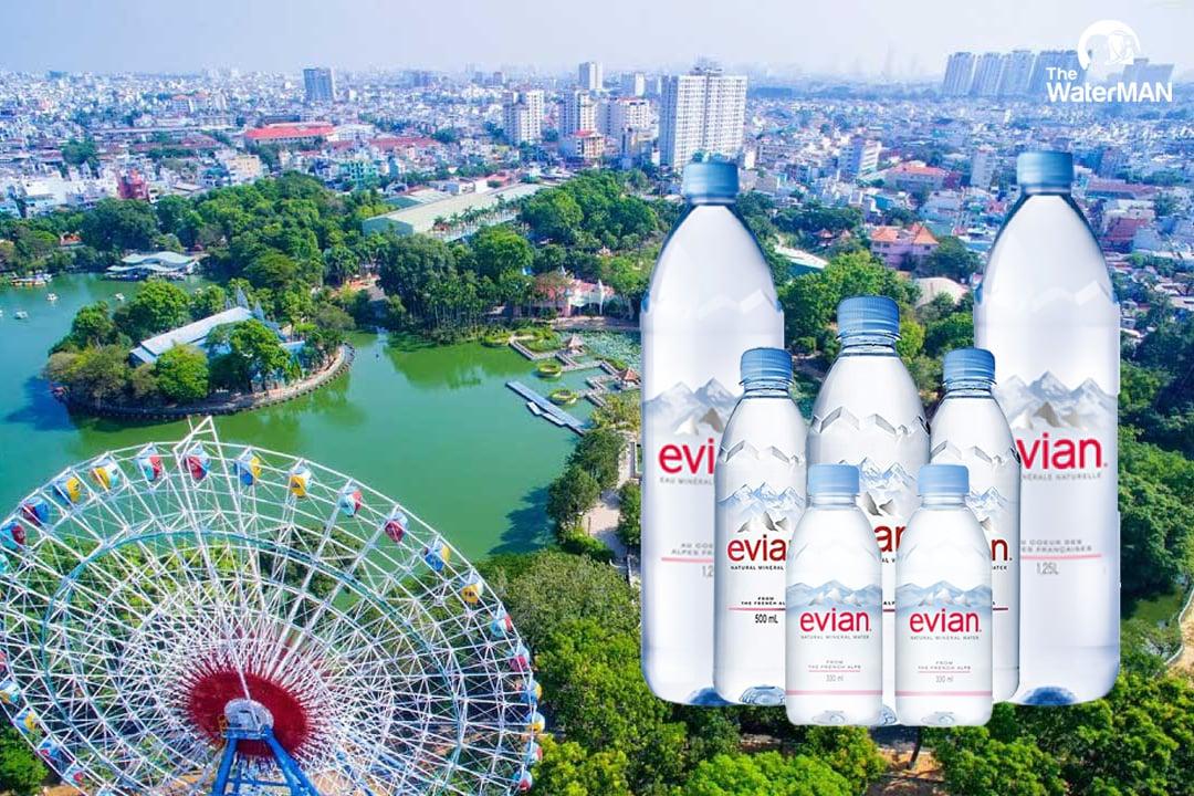 Các sản phẩm của nước khoáng Evian
