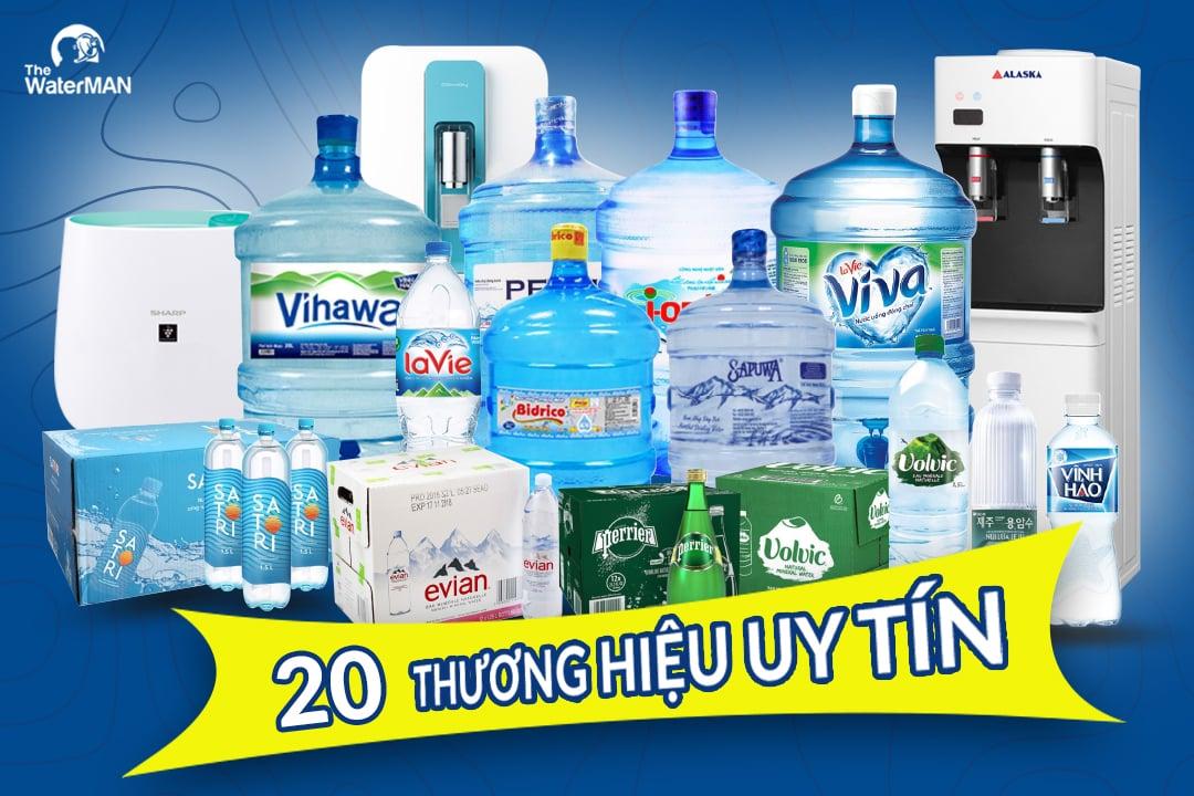 The Water MAN sản xuất và phân phối 20 thương hiệu uy tín về nước uống và các phụ kiện đi kèm