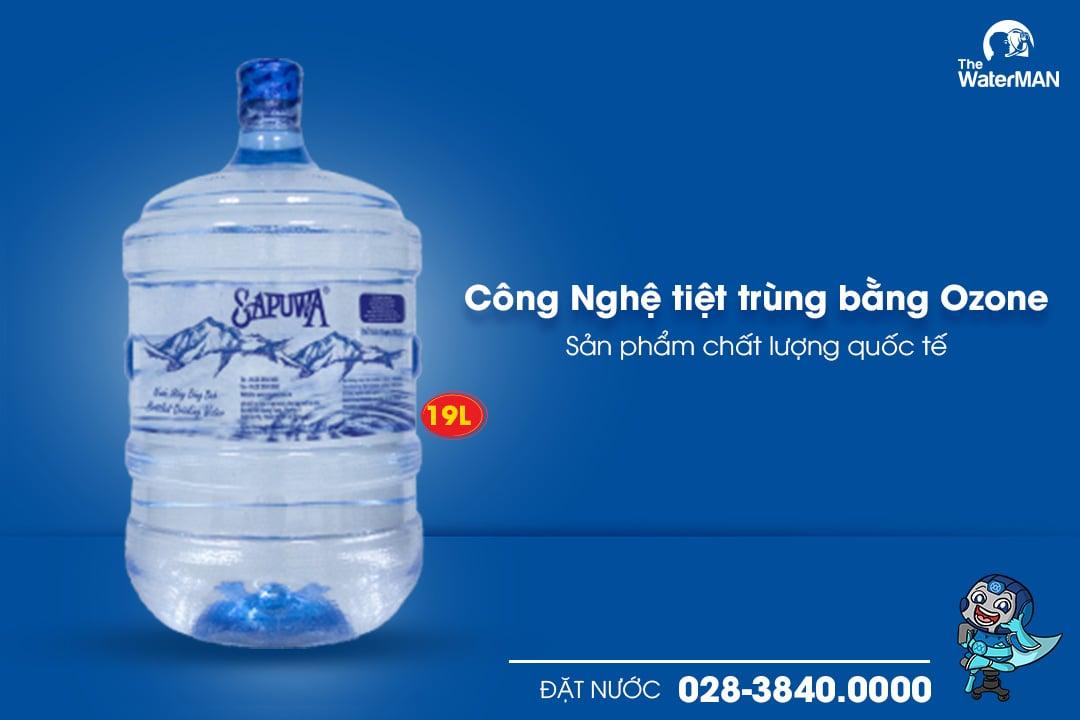 Nước tinh khiết Sapuwa bình úp 19L