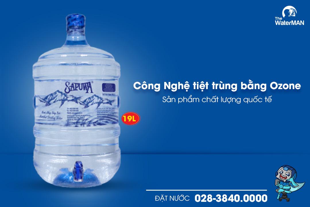 Nước tinh khiết Sapuwa bình vòi 19L