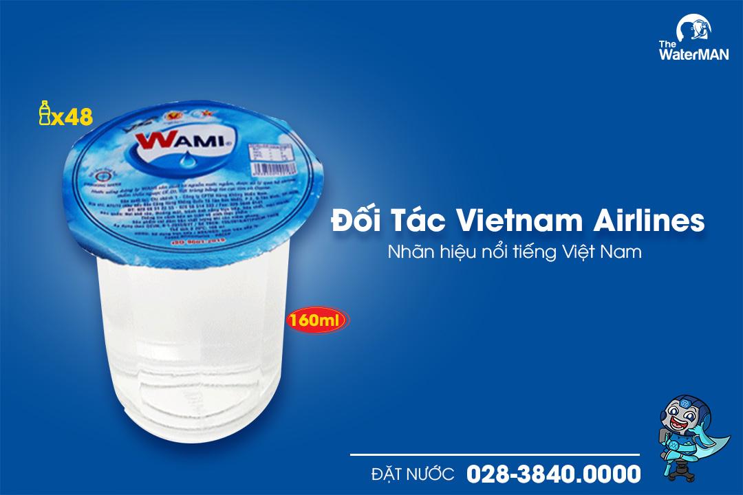 Thùng nước tinh khiết Wami đóng ly 160ml