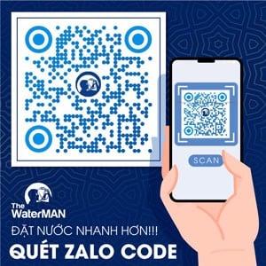 Quét mã zalo code để mua nước của The Water MAN
