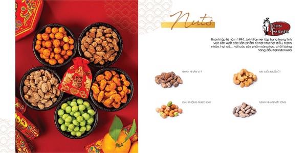 Các loại hạt dinh dưỡng thích hợp làm quà biếu tết cho người ăn chay