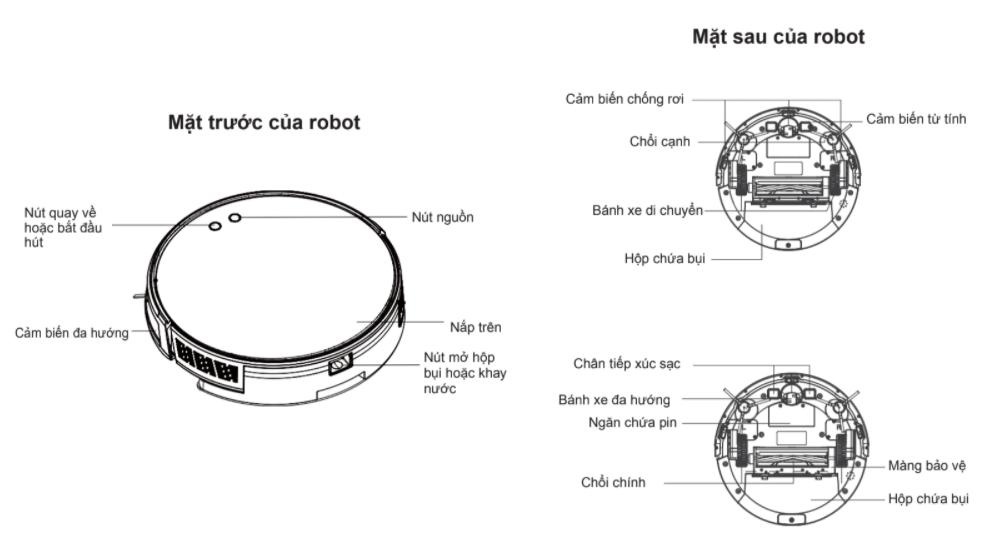 Robot hút bụi lau nhà Sclean J600 - hàng chính hãng