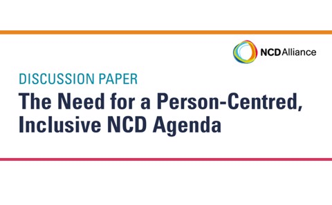 NCD Alliance emphasizes the need of a person-centred, inclusive NCD agenda