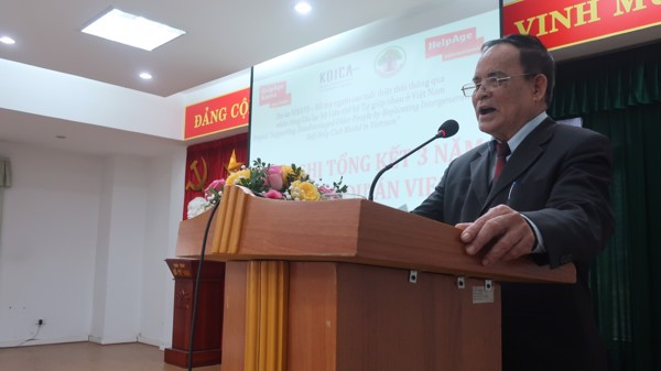 Mr. Tran Duc Phoi - Head of Representative Committee of Hanoi AE,  giving the opening speech at the conference