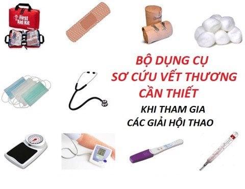 CÁC DỤNG CỤ Y TẾ CẦN THIẾT TRONG HỘI THAO