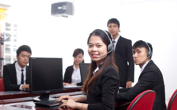 english call center