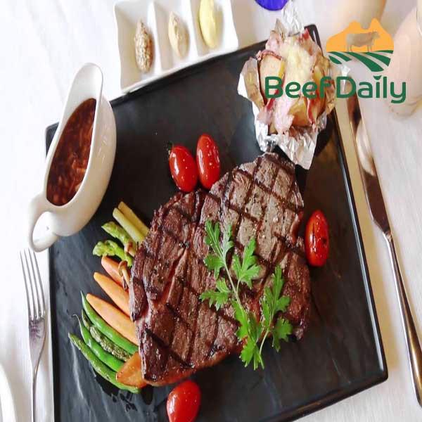 bò mát làm bít tết steak