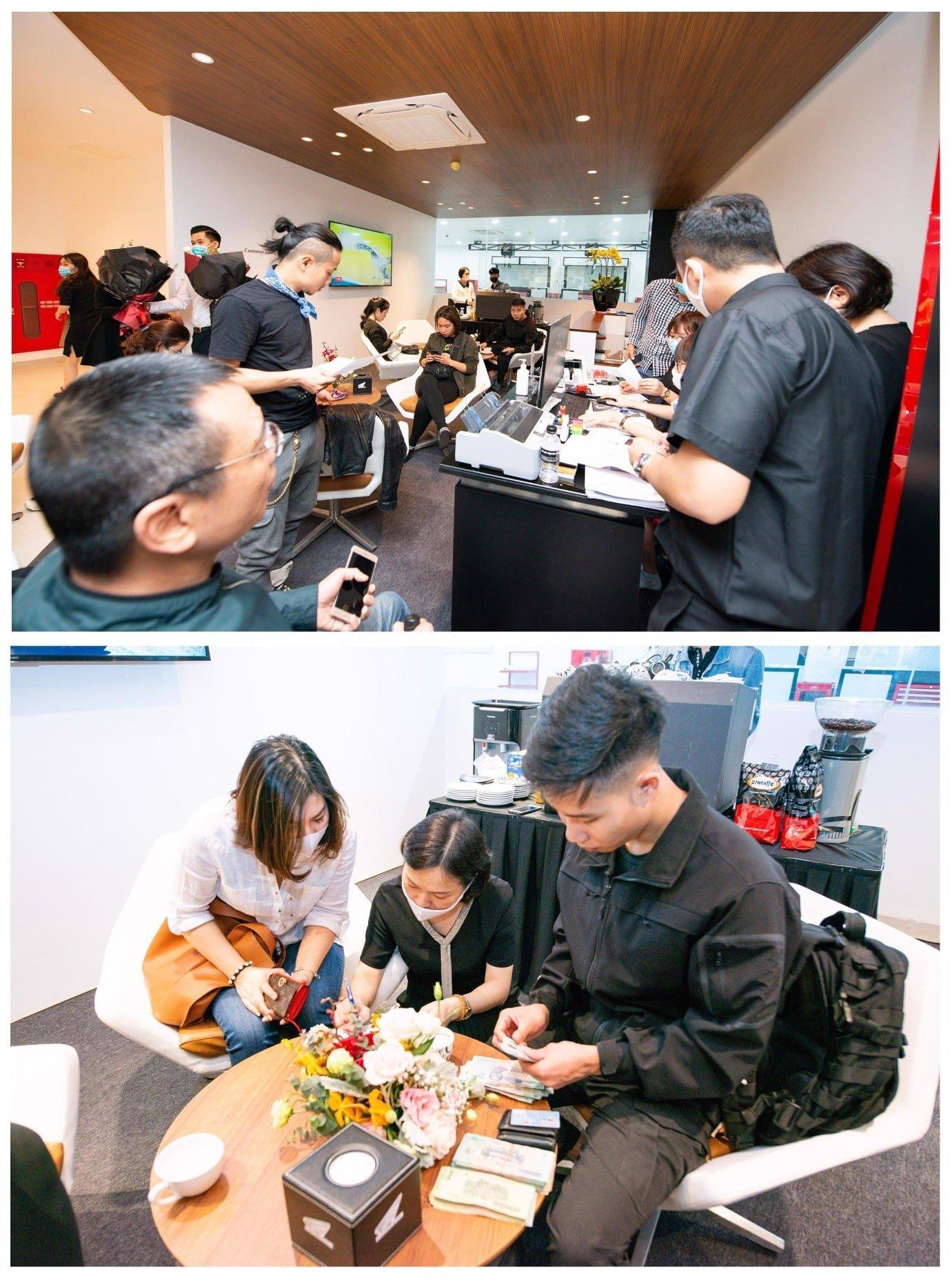 Trong ngày bán hàng đầu tiên của Honda BigBike Doanh Thu. Hơn 70 xe đã được ký kết, cọc tiền.Và đã hơn 20 xe đã được giao