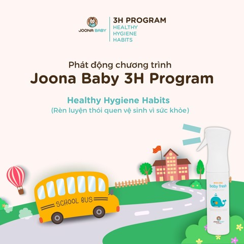 Joona Baby started Healthy Hygiene Habits (3H) Program in primary schools and kindergartens in Vietnam