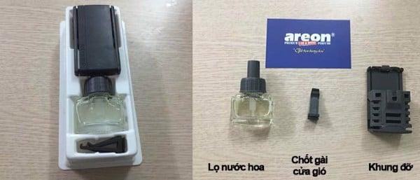 Cách sử dụng nước hoa ô tô kẹp cửa gió - AREONmiennam