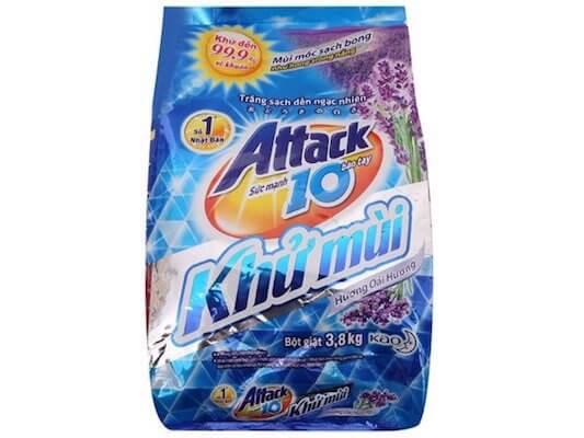 bột giặt attack extra khử mùi hương hoa oải hương