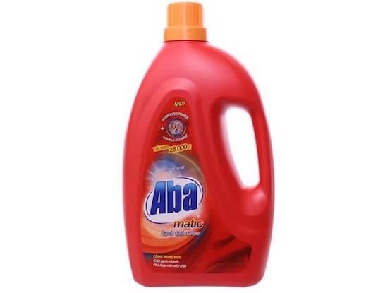 nước giặt aba matic đỏ cho máy giặt