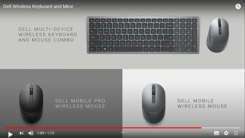 Dell Wireless Keyboard and Mice