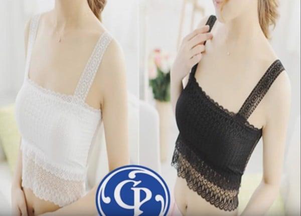Áo ngực Cotton phối ren