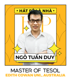 Mr. Ngô Tuấn Duy - IELTS Trainer - Master of TESOL