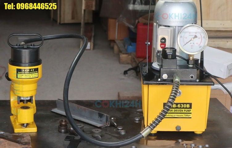 Đầu đột lỗ thuỷ lực HHM-60 dùng bơm điện thuỷ lực
