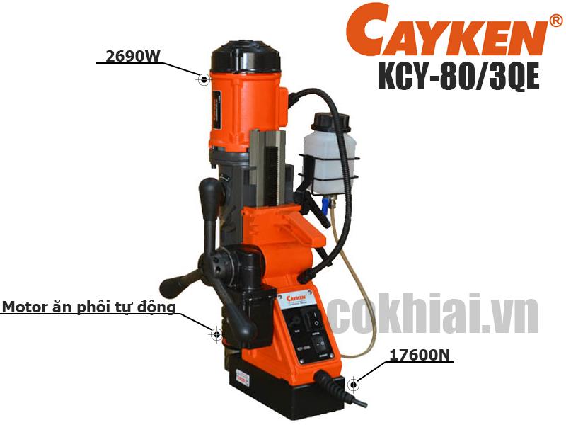 Máy khoan từ tự động Cayken KCY-80/3QE