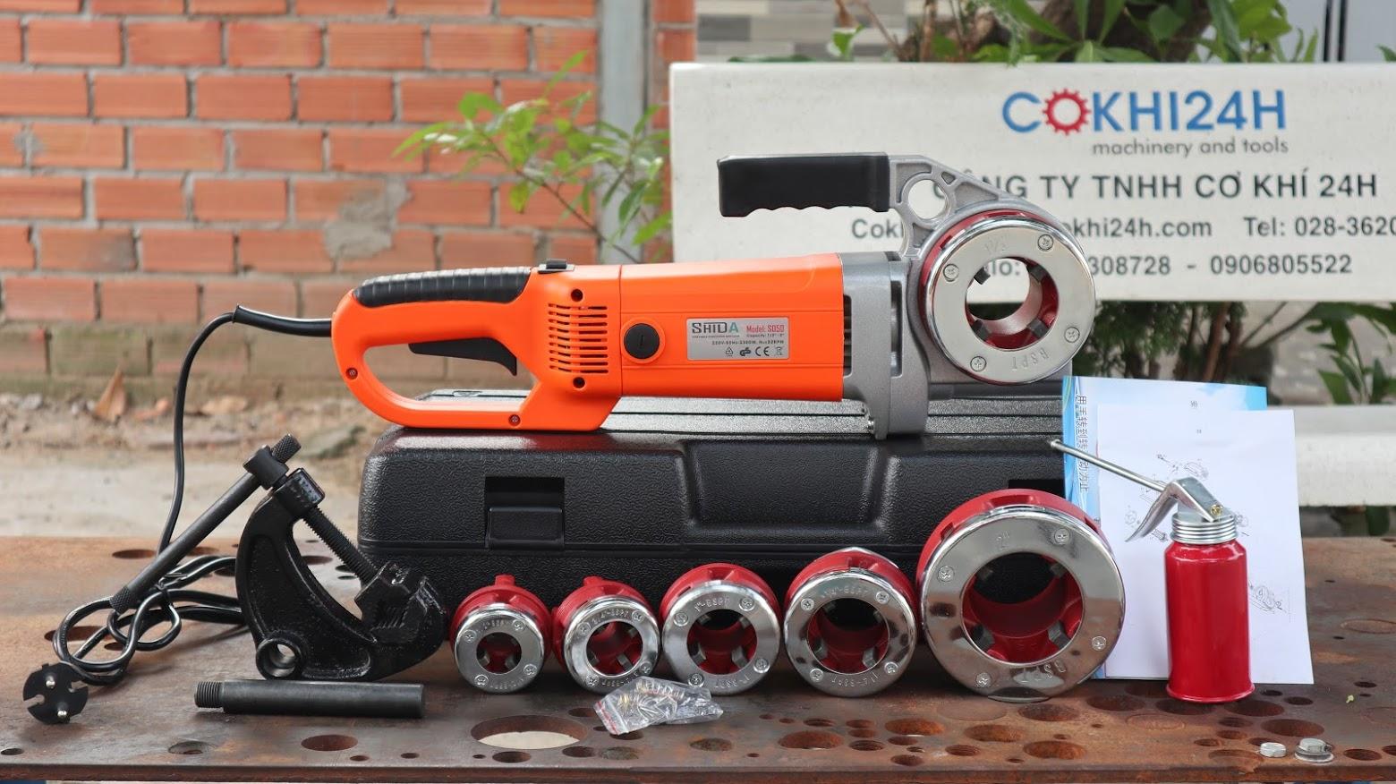 Máy tiện răng ống cầm tay Shida SD50