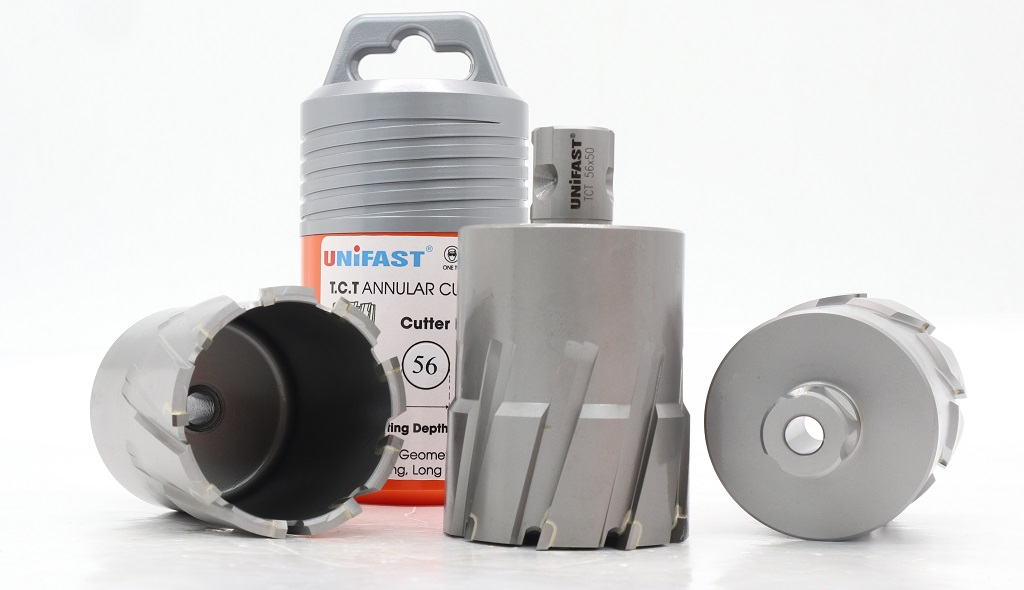 Mũi khoan sắt phi 56 Unifast TCT-56x50 làm từ hợp kim