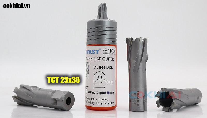 Mũi khoan từ hợp kim tct hiệu Unifast phi 23 khoan sâu 35mm