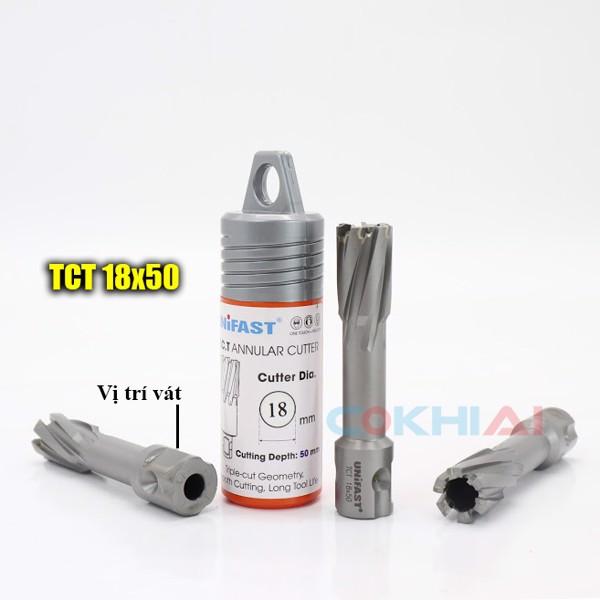 Hướng dẫn lắp mũi khoan từ Unifast TCT 18x50 đúng cách