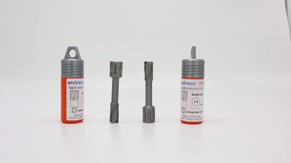 Mũi khoan từ hợp kim khoan inox Unifast TCT 14x50 chính hãng