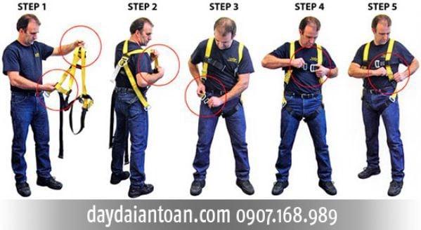 hướng dẫn sử dụng dây đai an toàn