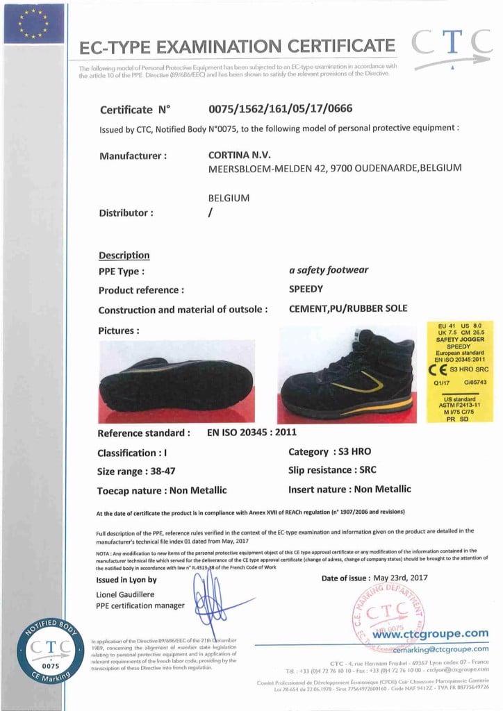 CCCL giày Jogger Speedy S3