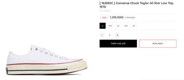 Converse Chuck Taylor All Star Low Top 1970