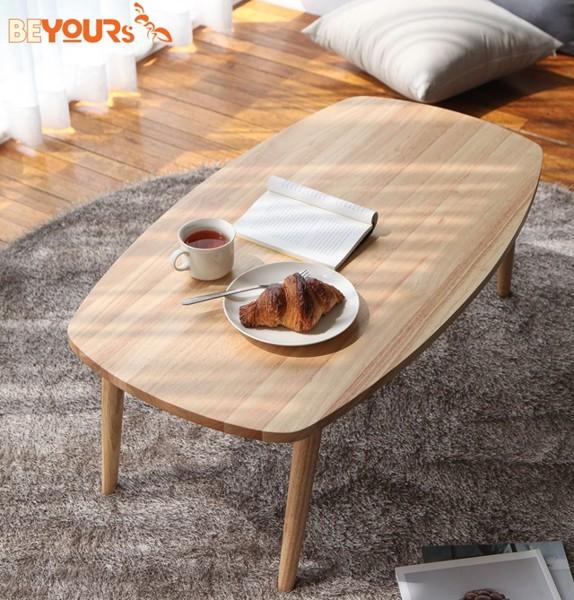 Mẫu bàn trà gỗ tự nhiên B Table có 2 size L và S