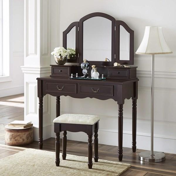 Bàn phấn thiết kế theo phong cách tân cổ điển phù hợp với không gian có cùng phong cách