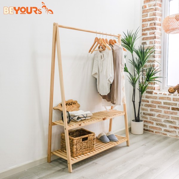 Giá treo quần áo a hanger 2fm natural