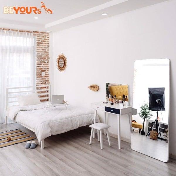 Mẫu giường Nan Simple màu trắng 1.4x2m – 1112271200001